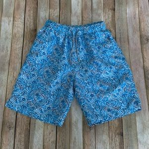 Peter Millar men's swim paisley small swim trunks